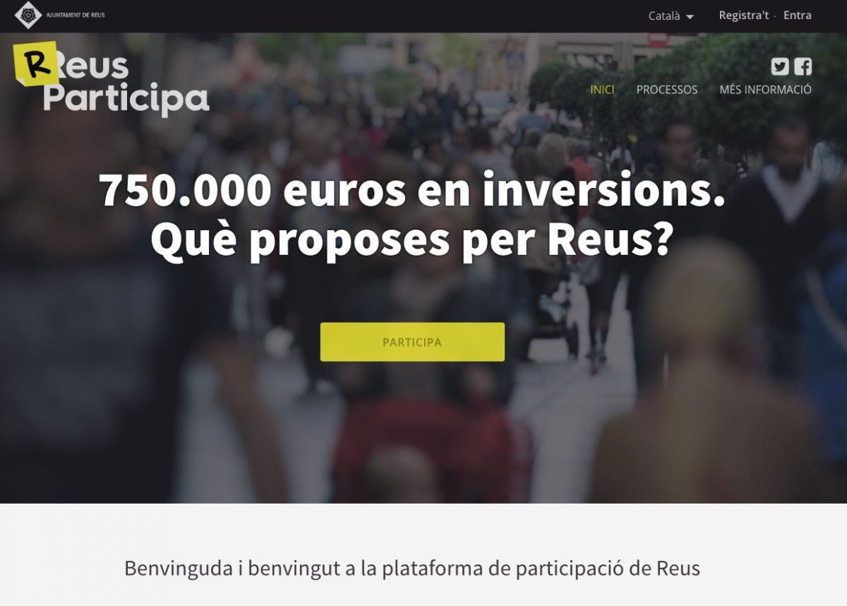 Plataforma de participació de l'Ajuntament de Reus