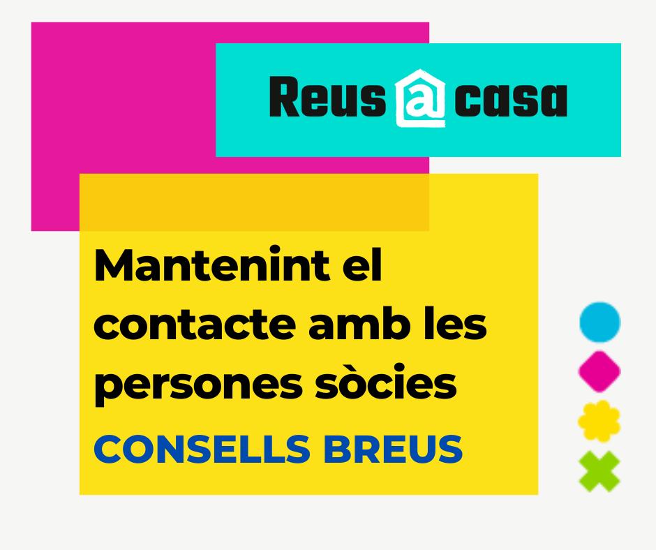 La regidoria de Relacions Cíviques de l'Ajuntament engega una campanya de comunicació amb les entitats de la ciutat de Reus per tal que...