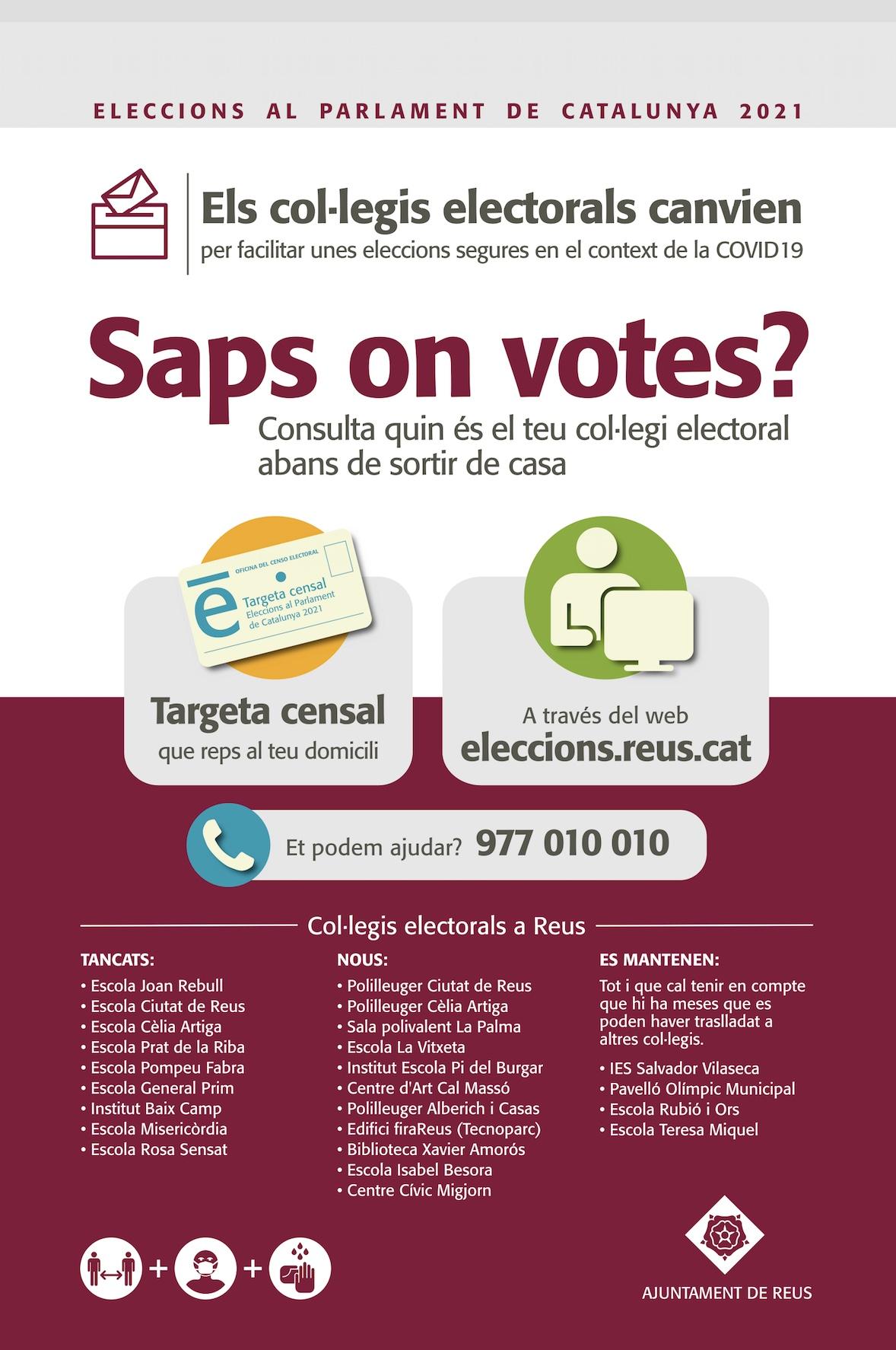 50.000 electors canvien de col·legi electoral en les eleccions al Parlament de Catalunya de 14 de febrer