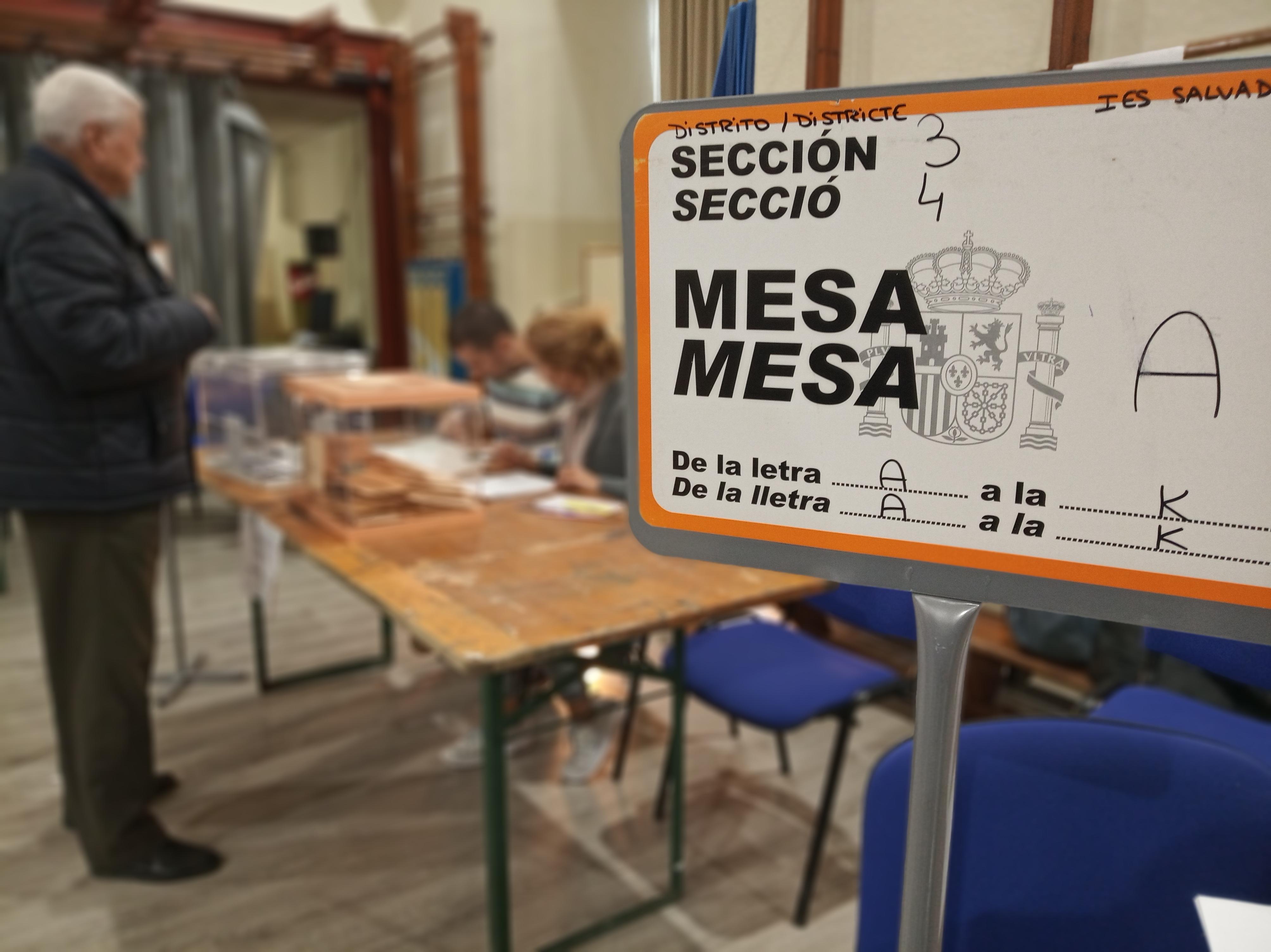 La participació a les Eleccions Generals del 10 de novembre de 2019 a Reus a les 18:00h