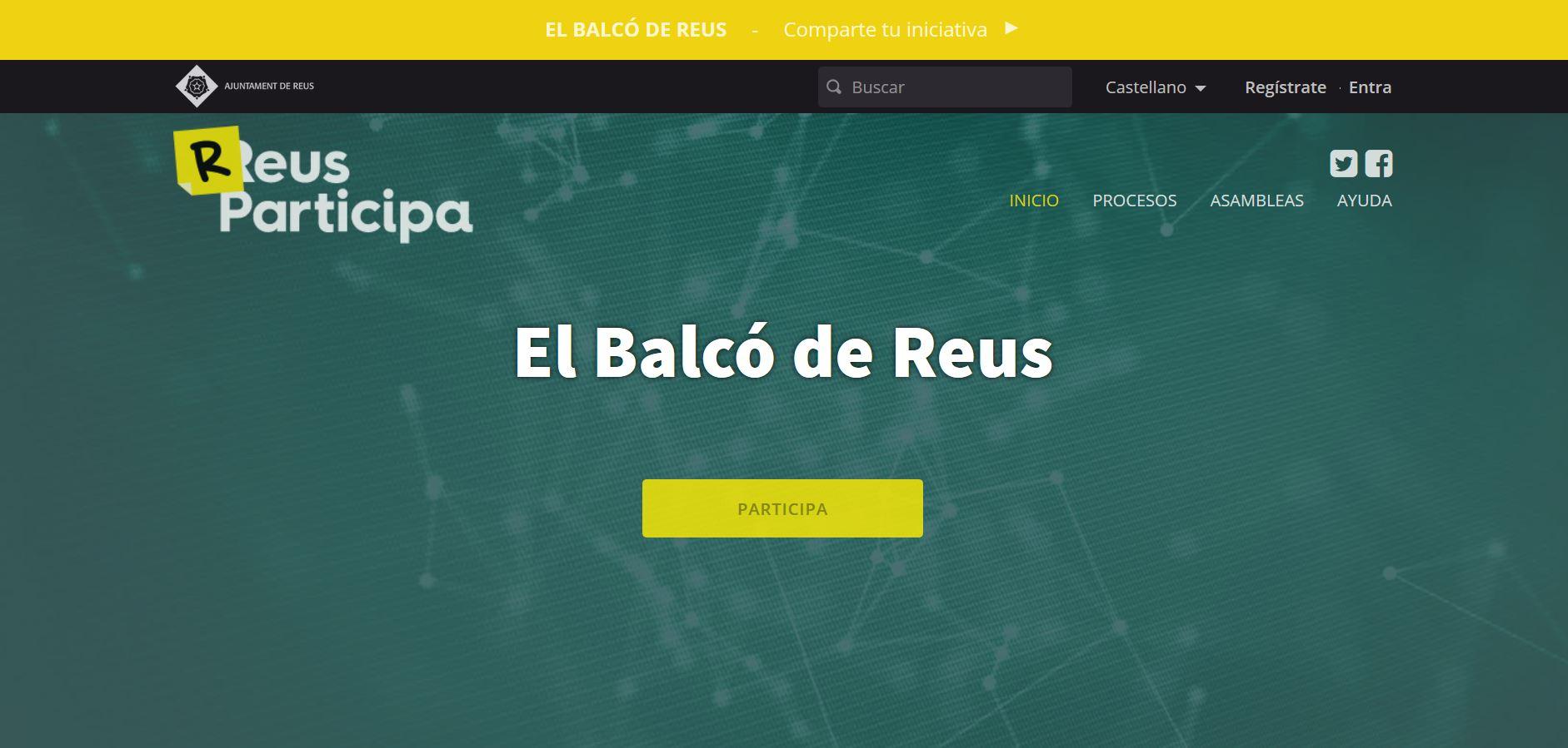 """L'Ajuntament de Reus, a través de la regidoria de Participació, Bon Govern i Serveis Generals, obre """"El Balcó de Reus"""", un nou espai..."""
