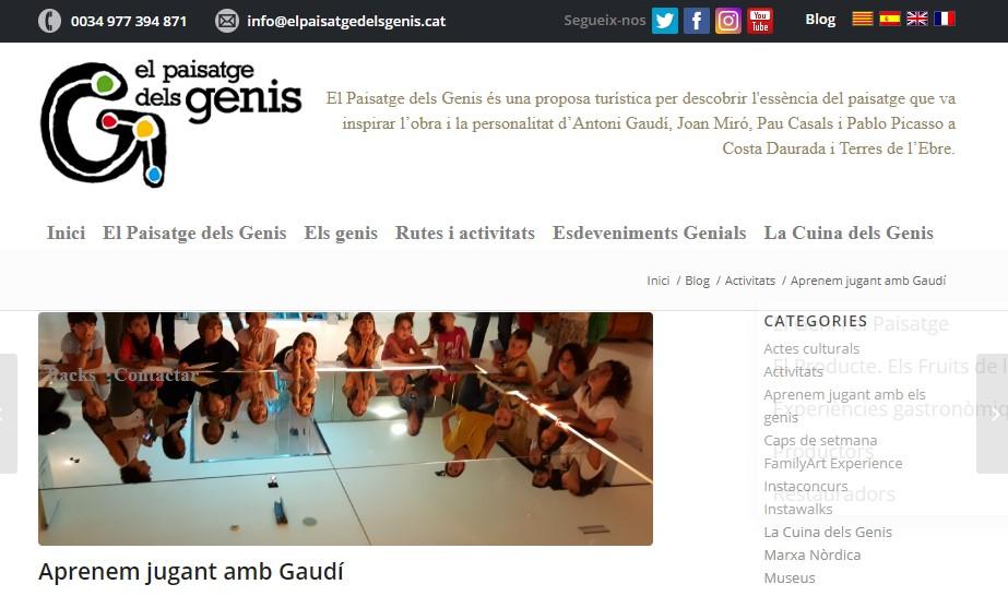 El Paisatge dels Genis ha posat en marxa diverses iniciatives online relacionades amb l'art i la cultura de la mà d'Antoni Gaudí, Joa...