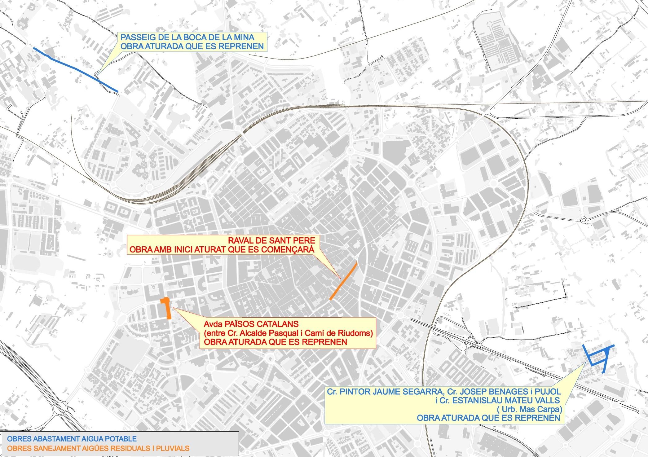 Aigües de Reus iniciarà la setmana que ve les obres de renovació de la xarxa de sanejament del raval de Sant Pere (des del carrer Batan)...