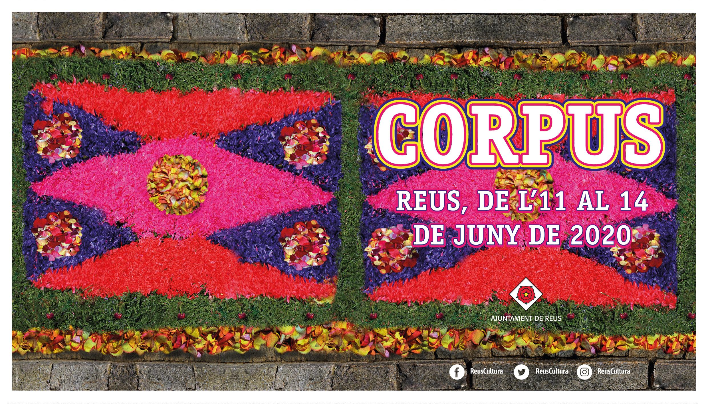 L'Institut Municipal Reus Cultura de l'Ajuntament de Reus té a punt el programa de Corpus 2020, que tindrà lloc aquesta setmana, concreta...