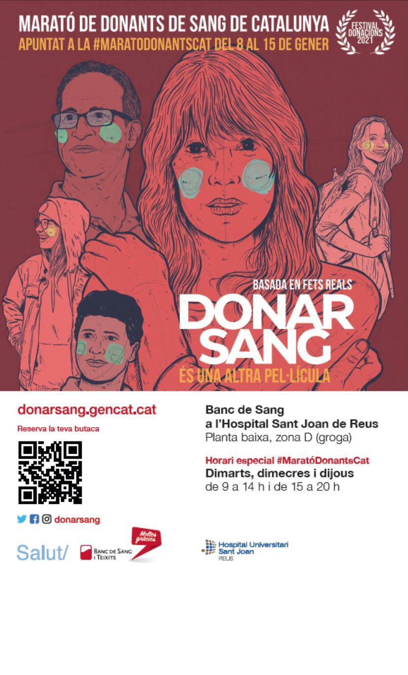 El Banc de Sang ha activat des d'aquest divendres dia 8 de gener fins al pròxim divendres 15 de gener la campanya de donació de sang més...