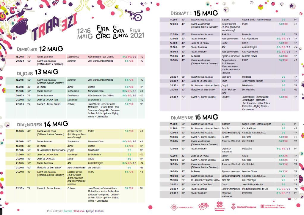 A partir d'aquest dijous 29 d'abril ja es poden adquirir les entrades dels espectacles del Trapezi, la Fira de Circ de Catalunya que ce...