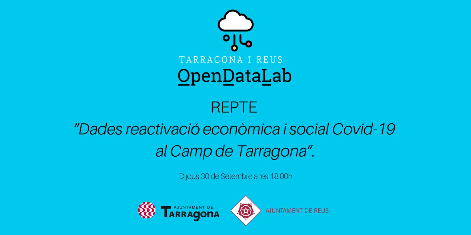 L'Open Data Lab Camp de Tarragona, impulsat pels ajuntaments de Tarragona i Reus, inicia temporada aquest dijous 30 de setembre a les 18:...