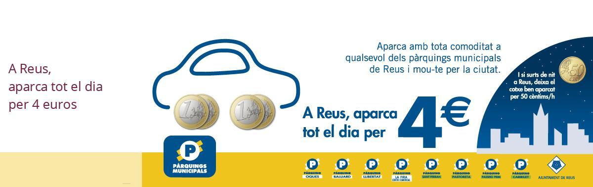 Accedeix a Aparcaments a 4 euros al dia Mobilitat