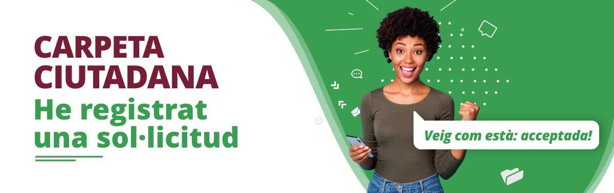 Accedeix a Carpeta ciutadana: registrar sol·licitud