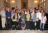 Recepció als mestres islandesos al saló de plens de l'Ajuntament de Reus.