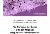 Cartell de divulgació de la conferencia d'Eduard Juancosa