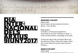 Cartell anunciant els actes del Dia Internacional dels Arxius 2017