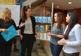 Foto balanç COS 2016 amb Montserrat Caelles (esquerra), Mònica Rincón, Marta Arjona i Carlota Moragas