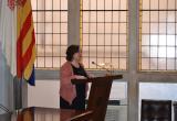 Imatge de l'acte institucional del Dia de les Dones 2018 al saló de plens de l'Ajuntament de Reus