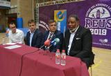 Imatge dels responsables organitzatius de Mare Nostrum Cup amb Jordi Cervera i Audie Norris