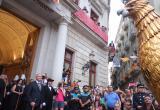 El ball solemne curt de l'Àliga per saludar la sortida de les autoritats