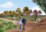 Imatge virtual del Parc de les Olors del projecte Passeig Boca de la Mina