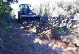 Treballs arranjament camins afectats per llevantada