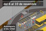Cartell de la Setmana del bus gratuït a l'hospital
