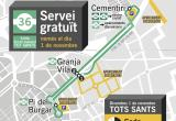 Itinerari bus llençadora Tots Sants