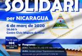 Cartell 22è Sopar Solidari per Nicaragua