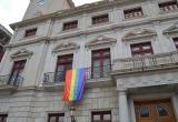 Bandera LGTBI al palau municipal