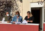 Signatura del conveni per a la cessió d'un mòdul pel CC Barri Gaudí
