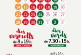 Cartell nous horaris Mercat campanya de Nadal