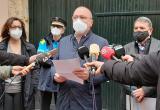 Roda de premsa precinte local per incompliment mesures sanitàries