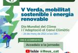 Cartell webinar Reus contra el canvi climàtic