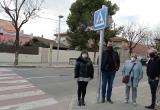 Inauguració il·luminació passos de vianants del carrer d'Astorga