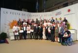 Foto de família dels guardonats als Premis Esport i Ciutat 2019