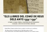 Cartell actes Arxiu de Reus a l'entorn de Sant Jordi 2019