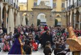 L'Àliga Petita, els gegants Fadrins i la Mulasseta han participat a l'espectacle