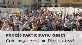 Accedeix a Procés participatiu sobre l'ordenança de civisme