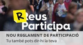 Accedeix a Reus participa: nou reglament de participació