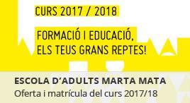 Accedeix a Matrícula Escola d'Adults Marta Mata