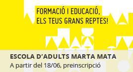 Accedeix a Preinscripció Escola d'adults CFA Marta Mata