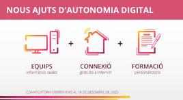 Accedeix a Ajuts per a l'autonomia digital