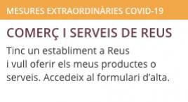 Accedeix a Comerç i serveis oberts a Reus. Formulari d'alta