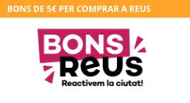Accedeix a Bons Reus: aconsegueix els teus bons de 5€
