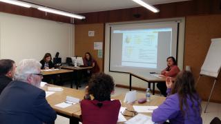 Imatge de la presentació realitzada per la regidora de Participació, Ciutadania i Transparència