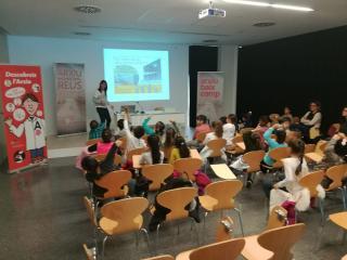 Visita dels nens i nenes de l'escola Rosa Sensat