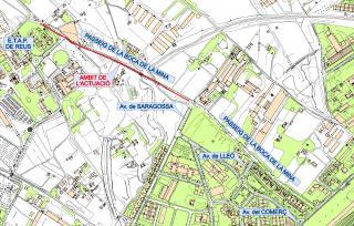Planol de localització de les obres