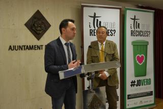 Imatge de la presentació de la campanya de reciclatge a Reus