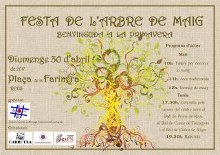 Imatge del cartell de la Festa de l'Arbre de Maig