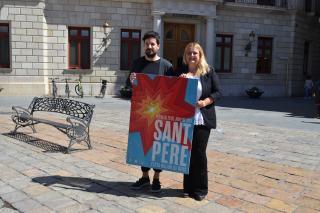 Montserrat Caelles i el dissenyador Joan Dalmau