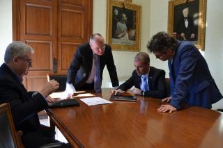 Reunió entre l'alclde i el president del Port de Tarragona