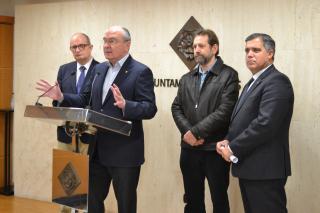 Imatge roda premsa presentació col·laboració Ajuntament de Reus amb Federacions espanyola i catalana per dissenyar skate park