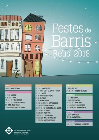 Cartell Festes de Barri 2018 Reus